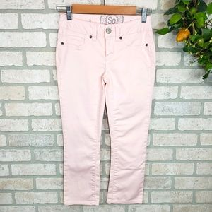 SO Crop Stretch Pants Light Pink Size 0